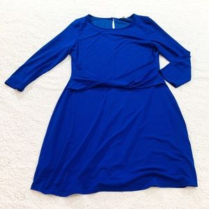 41 Hawthorne blue stretch 3/4 sleeve dress